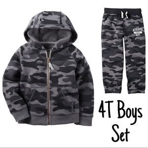 Carter's 4T Boys Set Hooded Jacket & Sweatpants